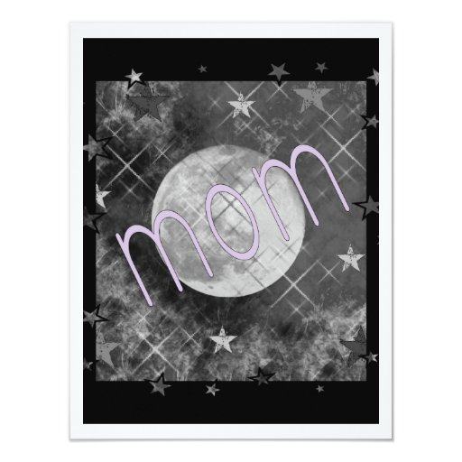 Mum Moon 11cm X 14cm Invitation Card