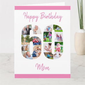 Mum Number 60 Photo Collage Big 60th Birthday Card