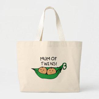 Mum of Twin Pod Jumbo Tote Bag