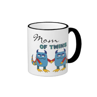Mum of Twins Ringer Mug