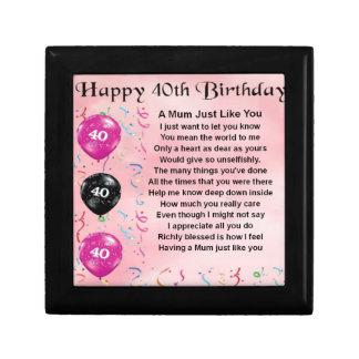 Mum Poem -  40th Birthday Gift Box