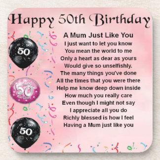Mum Poem - 50th Birthday Coaster