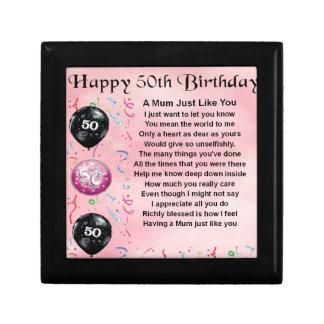 Mum Poem - 50th Birthday Gift Box