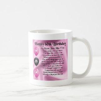 Mum poem  - 60th Birthday Basic White Mug