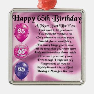 Mum Poem  -  65th Birthday Christmas Ornament
