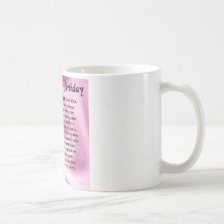 Mum Poem  -  70th Birthday Basic White Mug