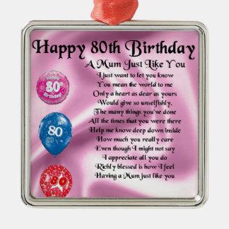 Mum Poem - 80th Birthday Christmas Ornament