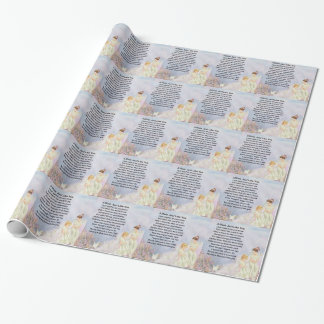 Mum Poem  - Angels & Kittens Design Wrapping Paper