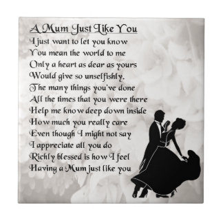 Mum Poem  -  Ballroom Dancers Tile
