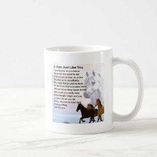 Mum Poem  -  Horses Design Basic White Mug