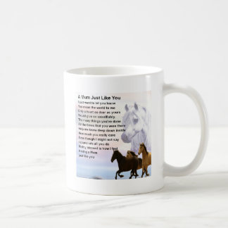 Mum Poem  -  Horses Design Coffee Mug
