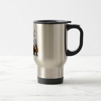 Mum Poem  -  Horses Design Stainless Steel Travel Mug