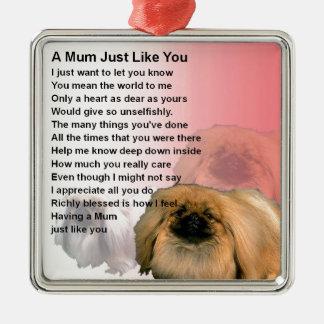 Mum Poem - Pekingese Design Christmas Ornament