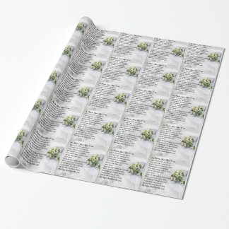 Mum Poem  - Wedding design Wrapping Paper