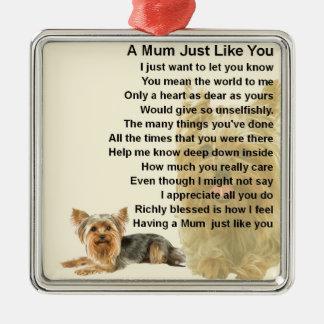 Mum Poem - Yorkshire Terrier Design Christmas Ornament
