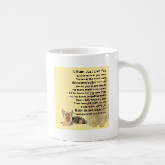 Mum Poem - Yorkshire Terrier Design Coffee Mug