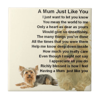 Mum Poem - Yorkshire Terrier Design Tile