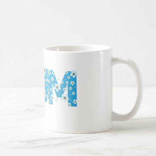 Mum pretty blue flowers mug