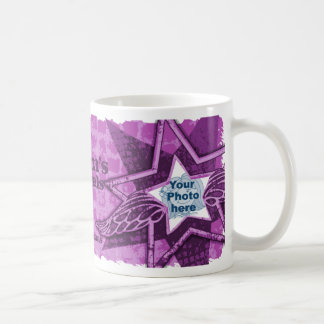 Mum s Mom s Angels in stars purple mug