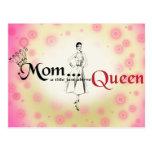 Mum Title Queen Postcard Horizontal Template