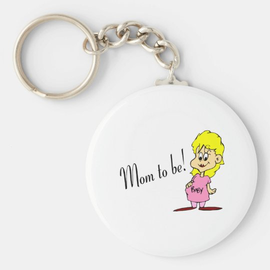 Mum To Be (Pregnant Woman) Key Ring