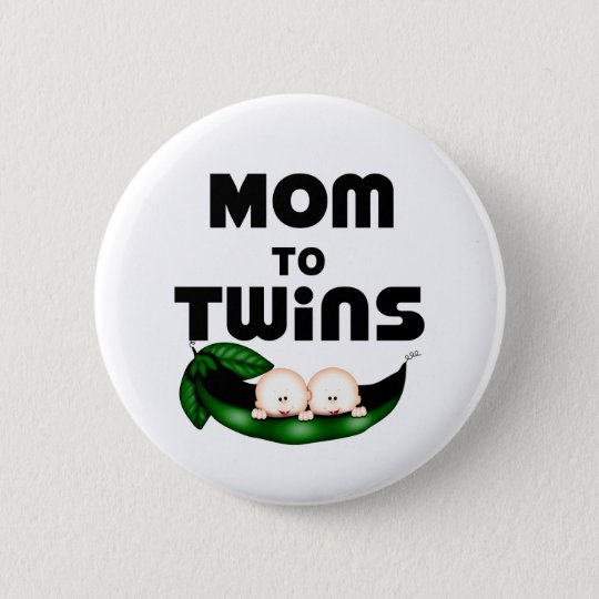 Mum to Twins (Peapod) 6 Cm Round Badge