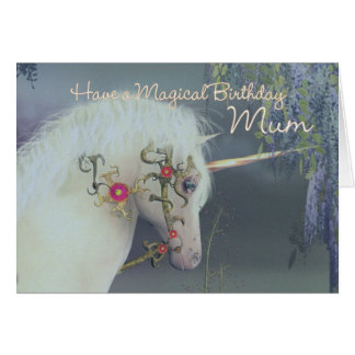 Mum Unicorn Birthday Card Magical Birthday
