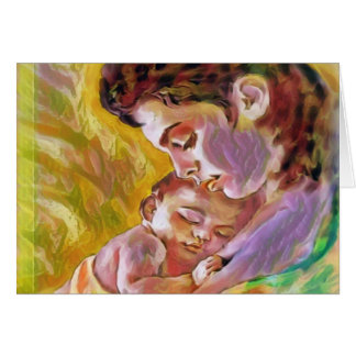 mum with child card