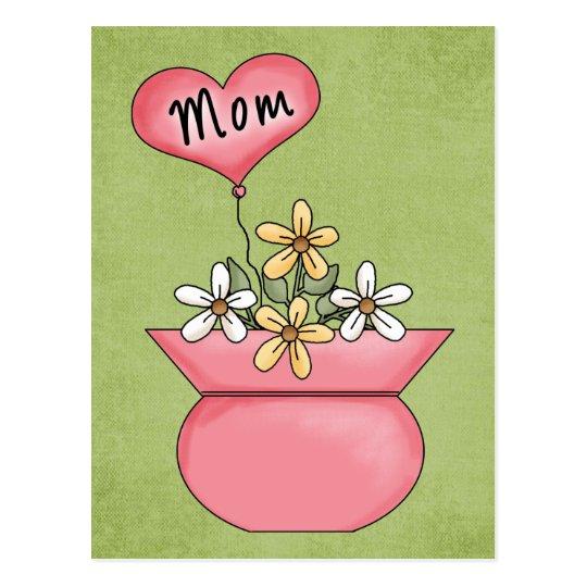 Mum With Heart Balloon - Great Gift Idea Postcard