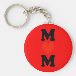 Mum With Heart (Vertical) Basic Round Button Key Ring