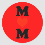 Mum With Heart (Vertical) Round Sticker