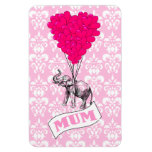 Mum with pink elephant flexible magnet