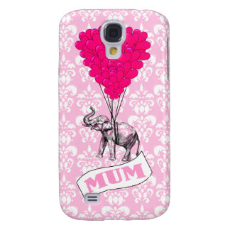 Mum with pink elephant galaxy s4 case
