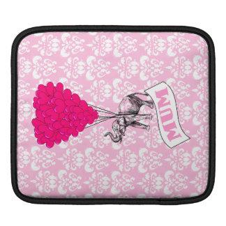 Mum with pink elephant iPad sleeve