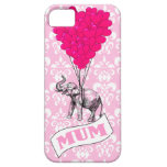 Mum with pink elephant iPhone 5 cases