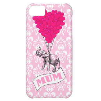 Mum with pink elephant iPhone 5C case