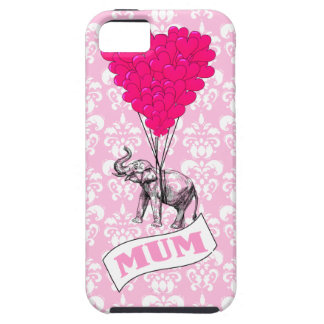 Mum with pink elephant tough iPhone 5 case