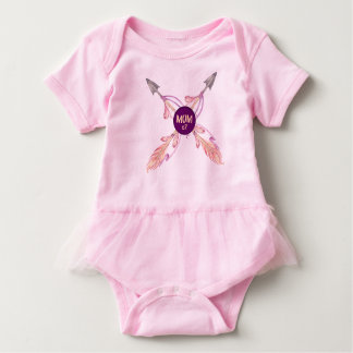 Mum x2 Feather Arrows Bohemian Baby Tutu Baby Bodysuit