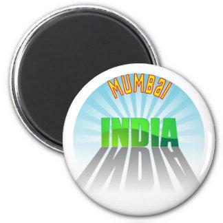 Mumbai 6 Cm Round Magnet