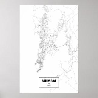 Mumbai, India (black on white) Print
