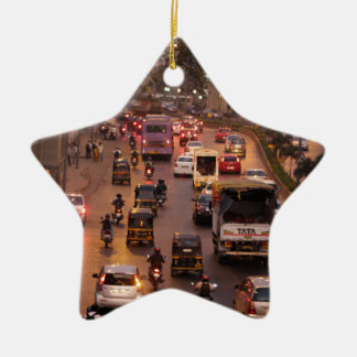 Mumbai street christmas ornament