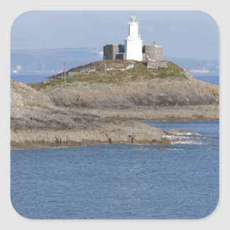 Mumbles Lighthouse, Mumbles Square Sticker