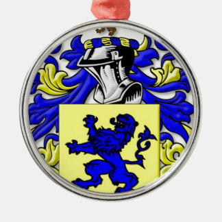 Mumford Coat of Arms Silver-Colored Round Decoration