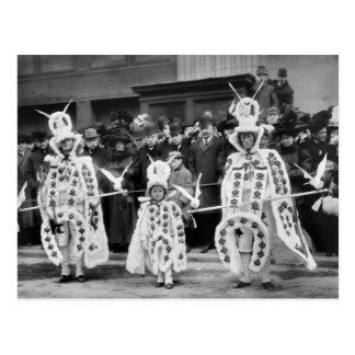 Mummers Parade, New Years Day, 1909 Postcard