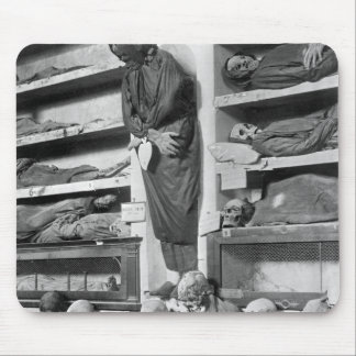 Mummies in the Palermo catacombs, Italy Mousepads