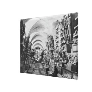 Mummies of catacomb of Palermo, Italy Canvas Print