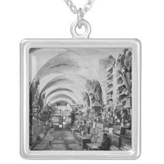 Mummies of catacomb of Palermo, Italy Silver Plated Necklace