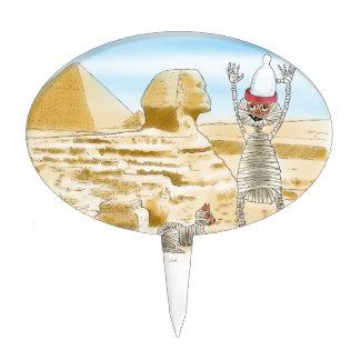 Mummific Egypt Cake Pick