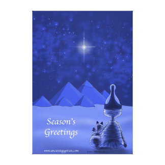 Mummific Season's Greetings Stretched Canvas Print