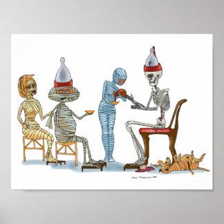Mummific Skeleton Dinner Poster